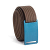 GRIP6 Belts Kids Classic Navy Blue (Aggie) buckle with mocha strap swatch-image