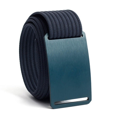 Aggie (Navy buckle) GRIP6 Men's belt with Navy strap swatch-image