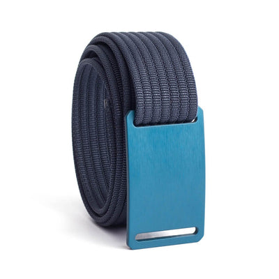 GRIP6 Belts Kids Classic Navy Blue (Aggie) buckle with navy strap swatch-image