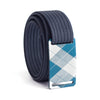 grip6 belts kids fairway navy plaid buckle w/ navy strap swatch-image