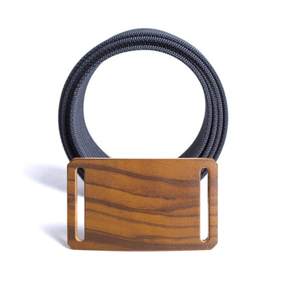 GRIP6 Kid's Craftsman Wood grain Olive buckle with navy strap