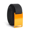 GRIP6 Belts Men's Narrow Classic Foxtail (Orange) buckle with Black Strap swatch-image