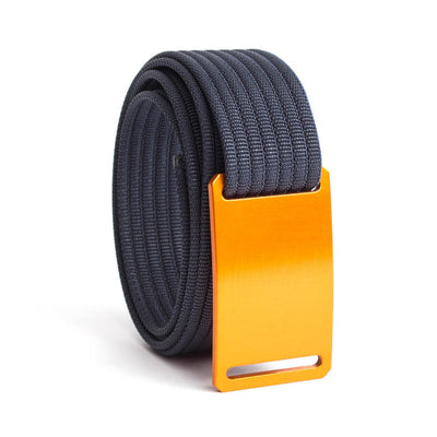 GRIP6 Belts Men's Narrow Classic Foxtail (Orange) buckle with Navy Strap swatch-image