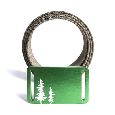 GRIP6 Belts Women's Soul Series with Green Pine Tree Buckle