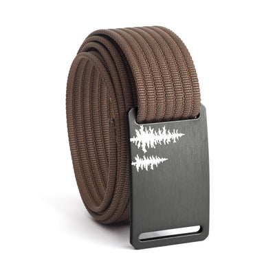 Women's Gunmetal Pine Buckle GRIP6 belt with Mocha strap swatch-image