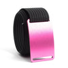Rose (Pink buckle) GRIP6 Men's belt with Black strap swatch-image