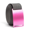 Rose (Pink buckle) GRIP6 Men's belt with Grey strap swatch-image