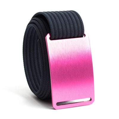 Rose (Pink buckle) GRIP6 Men's belt with Navy strap swatch-image
