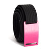 grip6 belts women's series pink (rose) buckle w/ black strap swatch-image