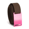 grip6 women's series pink (rose) buckle w/ mocha strap swatch-image