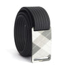 grip6 belts kid's fairway series gunmetal plaid buckle w/ black strap swatch-image