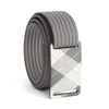 grip6 belts kid's fairway series gunmetal plaid buckle w/ grey strap swatch-image