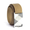 grip6 belts kid's fairway series gunmetal plaid buckle w/ khaki strap swatch-image