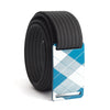 grip6 belts kids fairway navy plaid buckle w/ black strap swatch-image