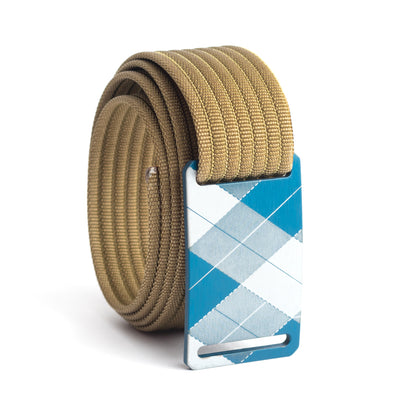 grip6 belts kids fairway navy plaid buckle w/ khaki strap swatch-image