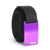 GRIP6 Belts Men's Narrow Classic Lupine (Purple) buckle with Black Strap swatch-image