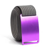 Lupine (Purple buckle) GRIP6 Men's belt with Grey strap swatch-image