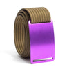 Lupine (Purple buckle) GRIP6 Men's belt with Khaki strap swatch-image