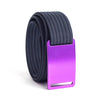 Lupine (Purple buckle) GRIP6 Women's belt with Navy strap swatch-image