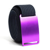 Lupine (Purple buckle) GRIP6 Men's belt with Navy strap swatch-image