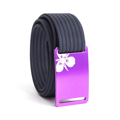 Women's Purple Sego Lily Buckle GRIP6 belt with Navy strap swatch-image