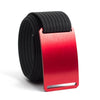 Ember (Red buckle) GRIP6 Men's belt with Black strap swatch-image