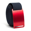 Ember (Red buckle) GRIP6 Men's belt with Navy strap swatch-image