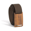 Craftsman Olive wood Buckle GRIP6 Women's belt with Mocha strap swatch-image
