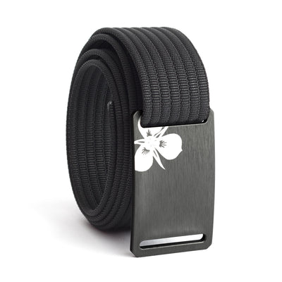 Women's Gunmetal Sego Lily Buckle GRIP6 belt with Black strap swatch-image
