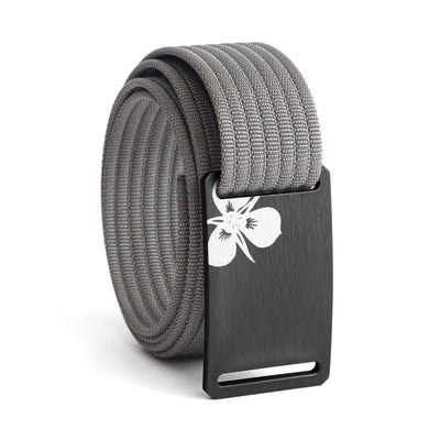 Women's Gunmetal Sego Lily Buckle GRIP6 belt with Grey strap swatch-image