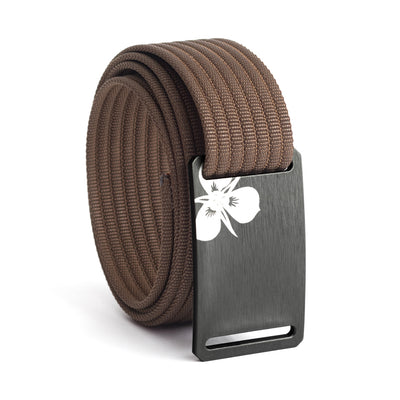 Women's Gunmetal Sego Lily Buckle GRIP6 belt with Mocha strap swatch-image