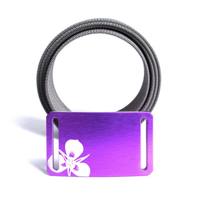 GRIP6 Belts Women's Soul Series with Purple Sego Lily Buckle