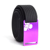 Women's Purple Sego Lily Buckle GRIP6 belt with Black strap swatch-image