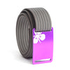 Women's Purple Sego Lily Buckle GRIP6 belt with Grey strap swatch-image