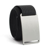 Granite (Silver buckle) GRIP6 Men's belt with Black strap swatch-image