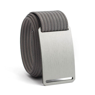Granite (Silver buckle) GRIP6 Men's belt with Grey strap swatch-image