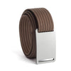 GRIP6 Belts Kids Classic Granite (Silver) buckle with mocha strap swatch-image