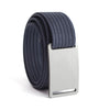 Granite (Silver Buckle) GRIP6 Women's belt with Navy strap swatch-image