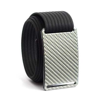 Silverglass Carbon Fiber Buckle GRIP6 belt with Black strap swatch-image