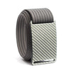 Silverglass Carbon Fiber Buckle GRIP6 belt with Grey strap swatch-image