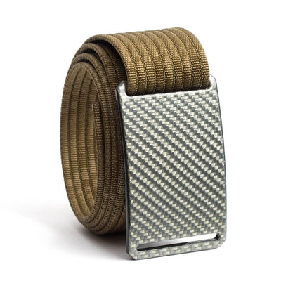 Silverglass Carbon Fiber Buckle GRIP6 belt with Khaki strap swatch-image