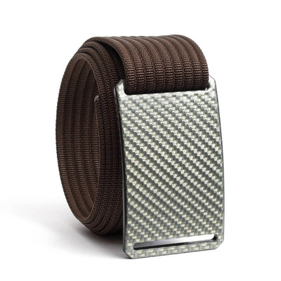 Silverglass Carbon Fiber Buckle GRIP6 belt with Mocha strap swatch-image