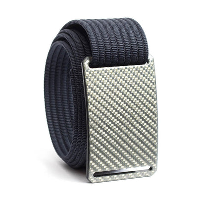 Silverglass Carbon Fiber Buckle GRIP6 belt with Navy strap swatch-image