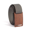 Craftsman Walnut wood Buckle GRIP6 Women's belt with Grey strap swatch-image