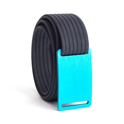 Aurora (Teal Buckle) GRIP6 Women's belt with Navy strap swatch-image