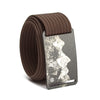 grip6 belts men's teton buckle w/ mocha strap swatch-image
