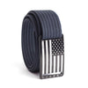Kids' USA Black Flag Buckle GRIP6 belt with Navy strap swatch-image