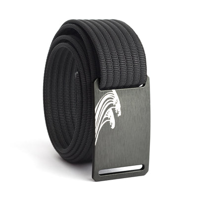 Women's Gunmetal Surf Buckle GRIP6 belt with Black strap swatch-image