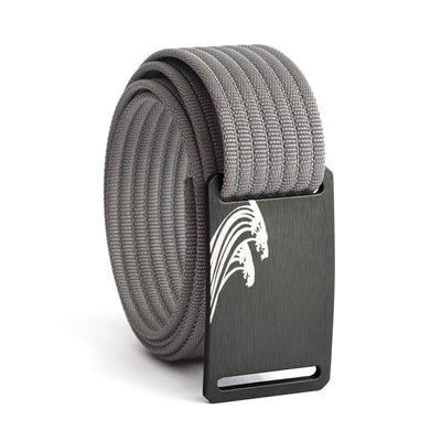 Women's Gunmetal Surf Buckle GRIP6 belt with Grey strap swatch-image