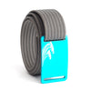 Women's Teal Surf Buckle GRIP6 belt with Grey strap swatch-image